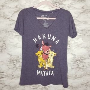 Disney Lion King Junior Womens Large L V-Neck Tee